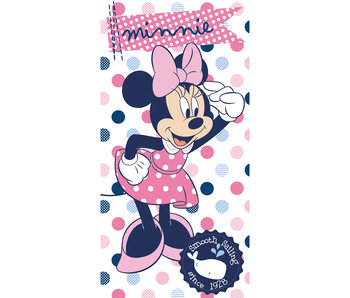Disney Minnie Mouse Strandtuch Dots 70x140cm aus 100% Baumwolle