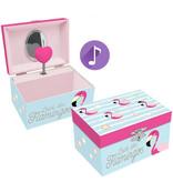 Flamingo - Muziek-/sieradendoosje - 15 x 8.5 x 11 cm - Multi