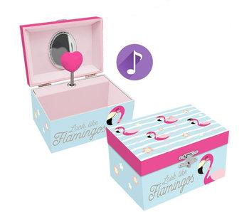 Flamingo Muziek-/sieradendoosje