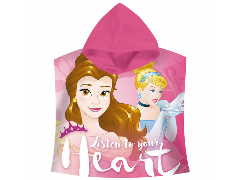 Disney Princess Listen to your heart - Badponcho - 60 x 120 cm - Rose
