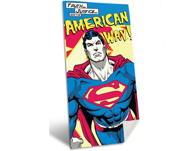 Superman American Way beach towel 140x70cm