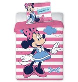 Disney Minnie Mouse Stripes - Housse de couette BABY - 100 x 135 cm - Rose