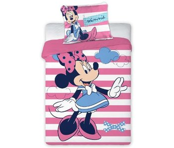 Disney Minnie Mouse BABY Bettbezug Stripes 100x135cm + 40x60cm