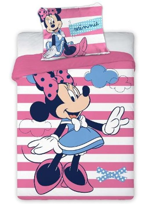 Disney Minnie Mouse BABY dekbedovertrek Stripes 100x135cm + 40x60cm