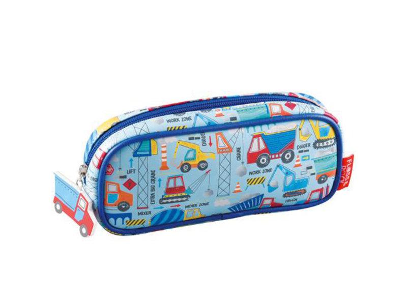 Floss & Rock Construction - Pencil case - 22 x 11 x 4 cm - Blue