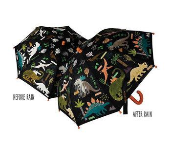 Floss & Rock kleur veranderende magische paraplu Dinosaurus