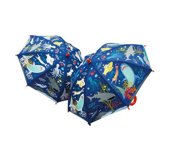 Floss & Rock Color changing magic umbrella ocean