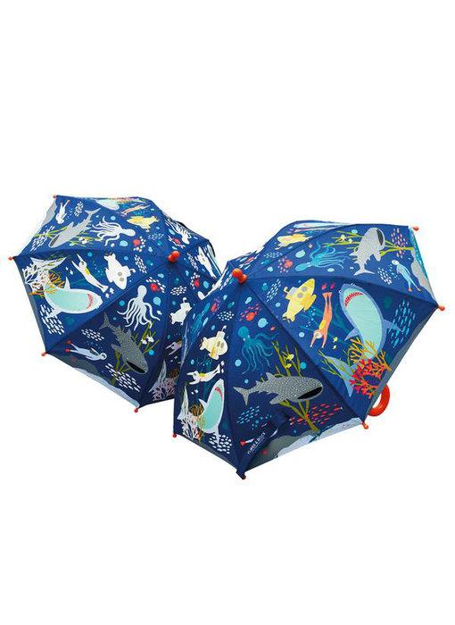 Floss & Rock Color changing magic umbrella ocean
