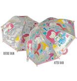 Floss & Rock Zeemeermin - magische kleur veranderende paraplu - Multi