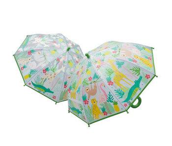 Floss & Rock Kleur veranderende magische paraplu Jungle