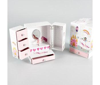 Floss & Rock Fairy & Unicorn - Muziek-/ Sieradendoosje - 21 x 15 x 12 cm