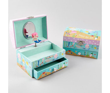Floss & Rock Mermaid & Marine animals - Music / Jewelry box - 10 x 15 x 11 cm