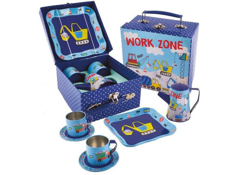 Floss & Rock Construction - pewter tea set - 7 pieces - Multi