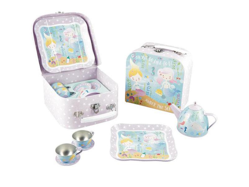 Floss & Rock Mermaid - Pewter tea set - 7 pieces - Multi