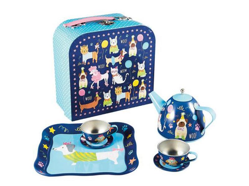 Floss & Rock Pets - Tin tea set - 7 pieces - Multi