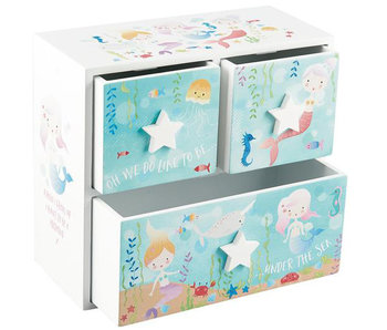 Floss & Rock Mermaid & Marine animals - Jewelry box - 18 x 20 x 9 cm