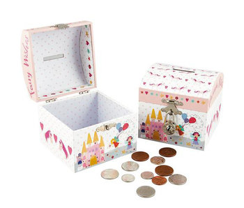 Floss & Rock Cash box Unicorn including heart lock