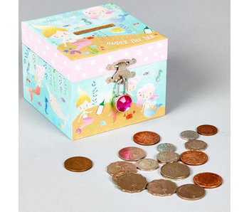 Floss & Rock Money box Mermaid with diamond clasp