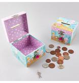 Floss & Rock Mermaid - money box including diamond clasp - 10.5 x 10.5 x 8.5 cm - Multi