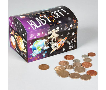 Floss & Rock Money box Rocket with clasp