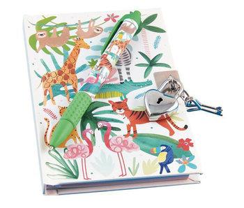 Floss & Rock Journal de la jungle avec serrure et stylo