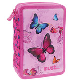 Must Butterfly - 3D - filled case - 21 x 15 cm - Pink