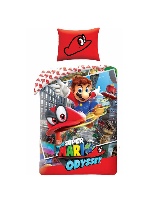 Nintendo Bettbezug Mario Odyssey 140x200 + 70x90cm