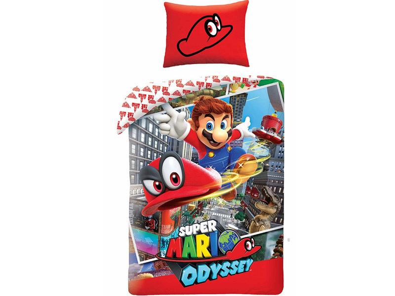 Nintendo Mario Odyssey - Dekbedovertrek - Eenpersoons - 140 x 200 cm - Multi