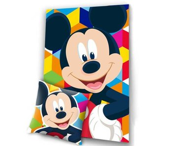 Disney Mickey Mouse Set Cushion and Silk Touch Plaid