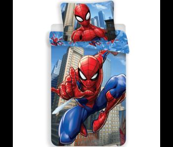 SpiderMan Dekbedovertrek Jump 140x200 + 60x80cm