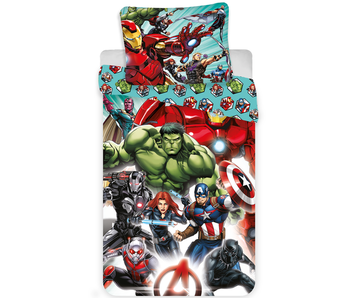 Marvel Avengers Bettdecken-Comics 140x200 + 70x90cm