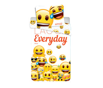 Emoji Dekbedovertrek Laugh Everyday 140x200cm