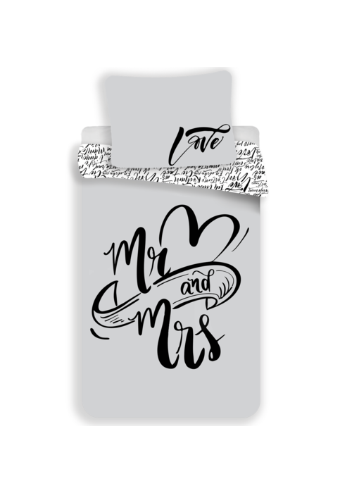 Mr & Mrs Duvet cover 140x200 + 70x90cm