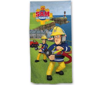 Brandweerman Sam Strandlaken Actie 70x140cm 100% katoen