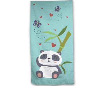 Panda Serviette de plage en bambou 70x140cm