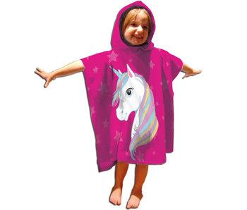 Unicorn Poncho Regenbogen 55x110 cm