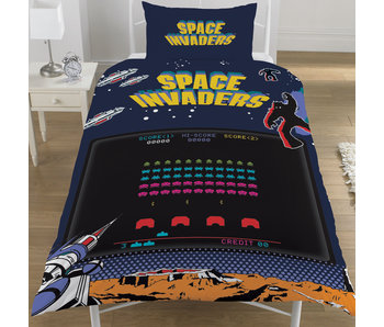 Space Invaders Duvet cover Coin Op 135x200 cm
