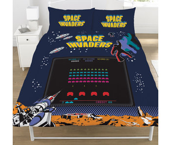 Space Invaders Bettbezug Coin Op 200x200 cm