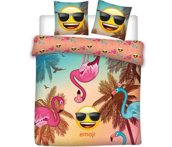 Emoji Dekbedovertrek Flamingo Lits Jumeaux 240x220cm