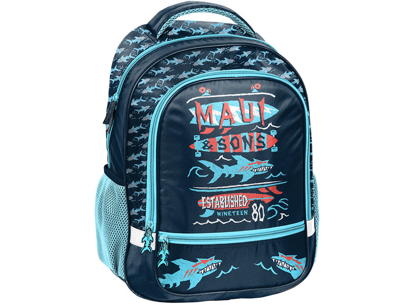 Maui Haai - Rugzak -  43 x 30 x 20 cm - Blauw