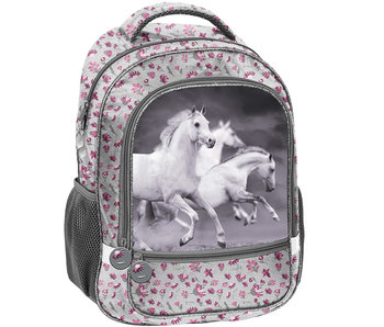 Animal Pictures White Horse backpack 43 cm