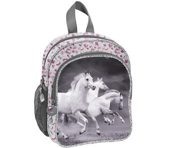 Animal Pictures White Horses Toddler Backpack 26 cm