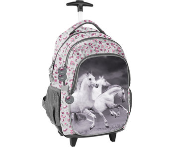 Animal Pictures Witte Paarden Trolley 45 cm