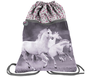 Animal Pictures White Horses gym bag 45 cm