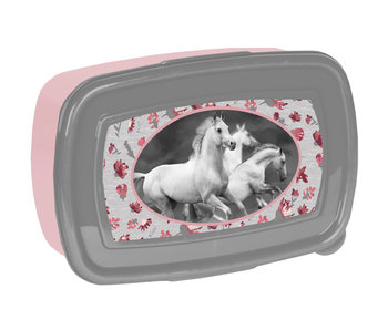 Animal Pictures Lunchbox Witte Paarden