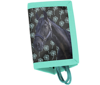 Animal Pictures Wallet Black Horse 12cm