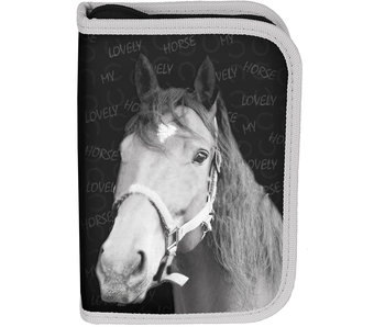 Animal Pictures Lovely Horse Filled Pouch 19.5 cm