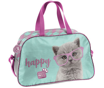Studio Pets Happy Cat Schoudertas 40 x 25 cm
