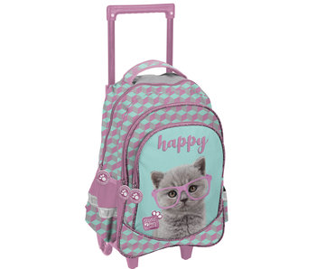 Studio Pets Happy Cat Rugzak Trolley 49cm