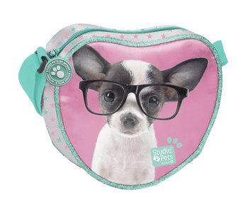 Studio Pets Chihuahua Bril Schoudertas 18cm